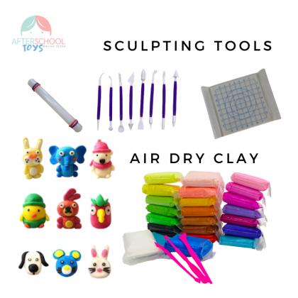 Air Dry Clay . Sculpting Tools