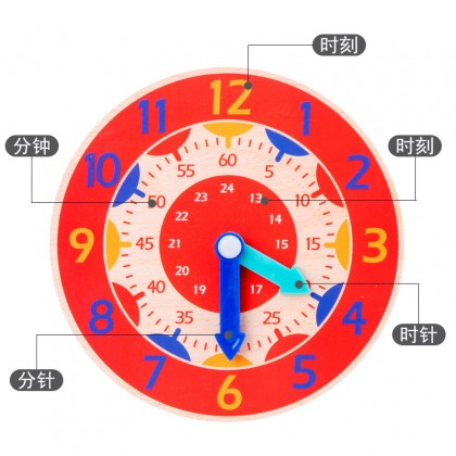 Montessori Wooden Clock