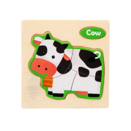 Wooden Jigsaw Puzzle Animal Vehicle
