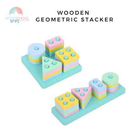 Wooden Geometric Stacker