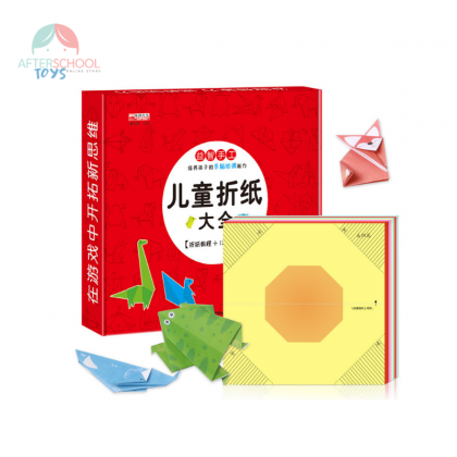 Origami Paper With Instructional Origami Book