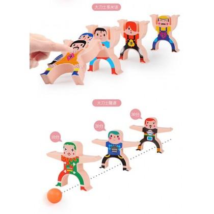 Stacking Games Hercules Acrobatic Troupe Interlock Toys Balancing Blocks
